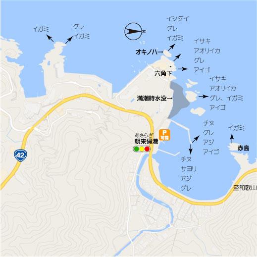 白浜町椿 番所崎周辺 白浜町南部の釣り場地図 南紀和歌山の釣太郎