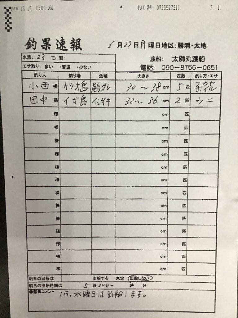 6/29 太地 太師丸渡船さんの釣果 | 南紀和歌山 渡船・ダービーの最新 ...